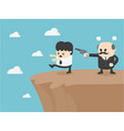 concept cartoon businessman being forced vector image