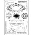 Decorative border ornament vector image vector image