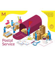 distribution postal service infographic vector image vector image