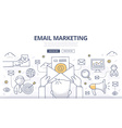 Email Marketing Doodle Concept vector image