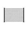 fence wire metal chain link mesh steel net vector image