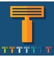 Flat design razor vector image vector image