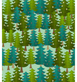 forest seamless pattern Fir forest Christmas tree vector image vector image