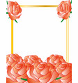 frame decorated a flower of the roses vector image
