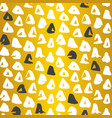 gold triangle seamless pattern vector image vector image