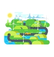 Green energy flat design vector image vector image