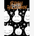 halloween party poster design template vector image vector image