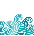 Hand drawn wavy background vector image vector image
