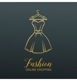 Hanger with a dress badge vector image