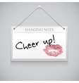 Hanging note board vector image