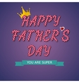 Happy Fathers Day hand drawn vector image