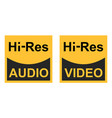 high resolution video audio signals sign vector image