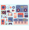 hip hop accessory musician instruments breakdance vector image vector image