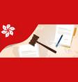 hongkong law justice judicial trial legal vector image vector image