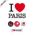 I love paris vector image