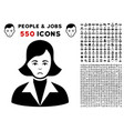lady icon with bonus vector image vector image