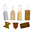 leather labels and tags vector image