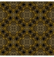 Linear pattern in art deco style in old gold vector image vector image