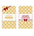 merry christmas cards set poster template cute vector image vector image