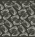 monochrome outline burrito pattern vector image vector image