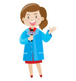 news reporter wearing blue shirt vector image vector image