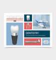 realistic dentistry elements composition vector image