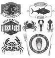 seafood bar vector image vector image