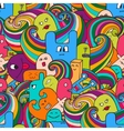 seamle pattern Funny monsters graffiti Hand vector image vector image
