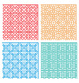 seamless geometric line pattern in asian style vector image