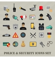 security icons set police law and crime vector image vector image