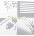 set shadows overlay effects mock up window vector image vector image