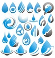 set water drop icons symbols signs and logos vector image vector image