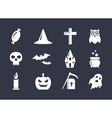 Simple icons set for Halloween decoration vector image