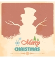 Snowman in Merry Christmas vector image vector image