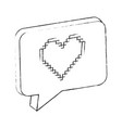 speech bubble with heart love vector image vector image