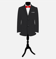 Suit with red bow tie vector image vector image