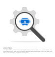 swimming mask icon search glass with gear symbol vector image vector image