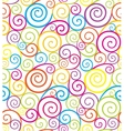 Swirl seamless composition vector image vector image