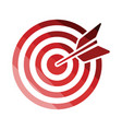 target with dart in bulleye icon vector image