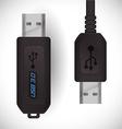 USB digital design vector image vector image