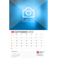 wall calendar planner for 2018 year september vector image vector image