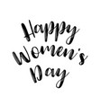 womens day poster with text greeting card with vector image vector image