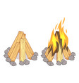 wood stacks hardwood firewood wooden logs and vector image vector image