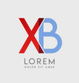 xb logo letters with blue and red gradation vector image vector image