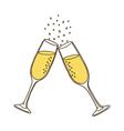 Champagne glasses vector image