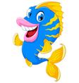funny fish cartoon smiling vector image