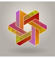 abstract geometric multicolor hexagonal vector image