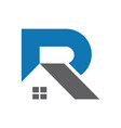 abstract home letter r logo icon vector image vector image