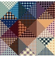abstract seamless patchwork pattern from vector image
