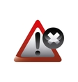 alert sign icon vector image vector image